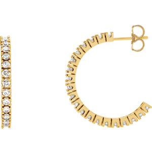 Diamond Hoop Earrings or Mounting