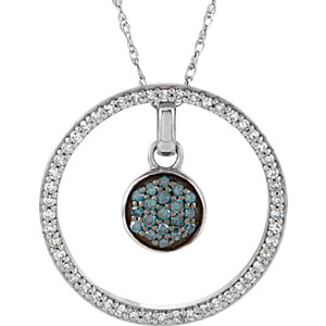 Diamond 3-in-1 Circle Necklace