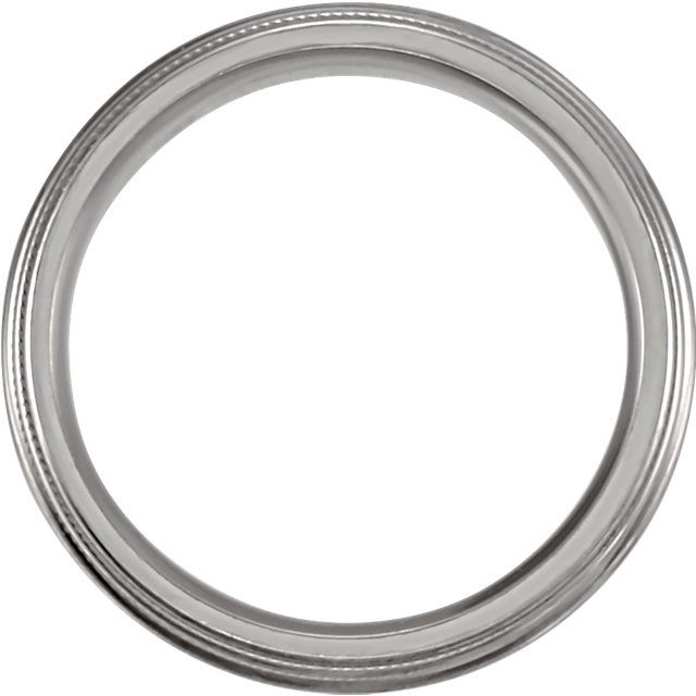 Titanium Grooved & Domed 6mm Band Size 7