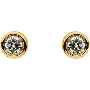 Diamond I₁ G-H Friction Post Stud Earrings