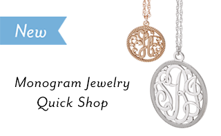 New -  Monogram jewelry Quick Shop: Easier to shop and order