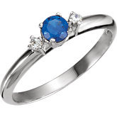 Ring Mounting for Round Gemstone Solitaire