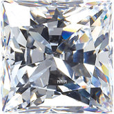 Square SWAROVSKI GEMSTONES™ Lab Created White Cubic Zirconia