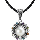 Mabé Cultured Pearl & Multi Gemstone Pendant Enhancer