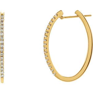 Diamond or Gemstone Hoop Earrings