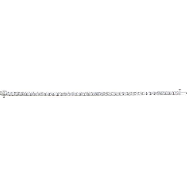 18K White 7 CTW Diamond Line 7.25