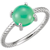 Gemstone Cabochon Rope Ring or Mounting