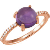 Gemstone Cabochon & Diamond Ring or Mounting
