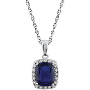 Gemstone & Diamond Necklace