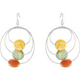 Freshwater Cultured Dyed Coin Pearl Earrings