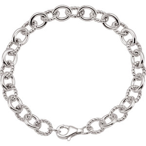 "Sterling Silver Link 7.5"" Chain"