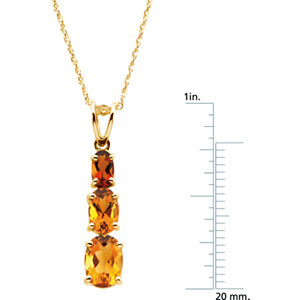 Genuine Citrine & Madeira Citrine Necklace