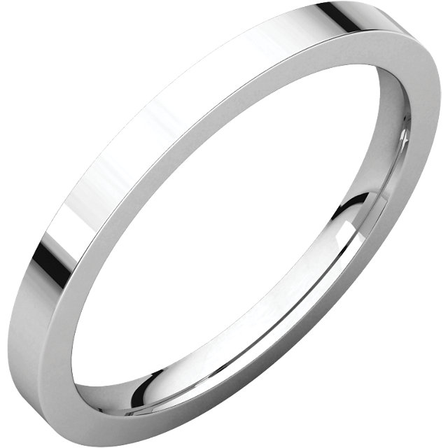 Sterling Silver 2mm Flat Band