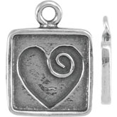 Heart Dangle with Square Frame
