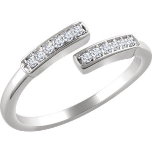 14K White 1/10 CTW Diamond Ring