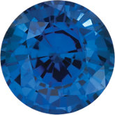 Round Chatham Created Blue Sapphire