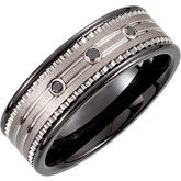 Dura Tungsten® & Ceramic Couture™ Band 8.3mm