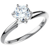 Round 6-Prong Medium Comfort-Fit Solstice Solitaire® Bombé Ring Mounting