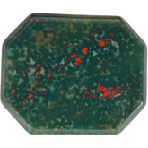 Emerald/Octagon Genuine Bloodstone