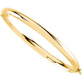 Hinged Bangle Bracelet - 4mm