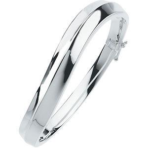 Sterling Silver 1 mm Hinged Bangle Bracelet