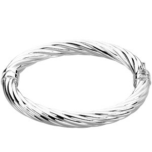 Sterling Silver Hinged Bangle 7