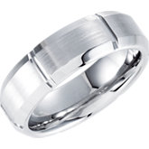 7mm Dura Cobalt™ Slight Domed Band with Satin Finish