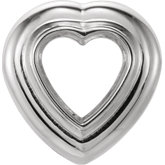 Heart Bezel Set Chain Slide