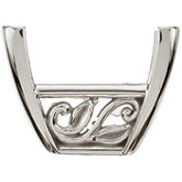 Princess/Square Laurel Scroll Setting® for Earring Assembly