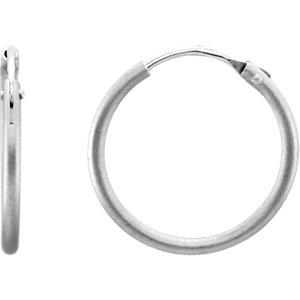 Satin Finish Hoop Earrings