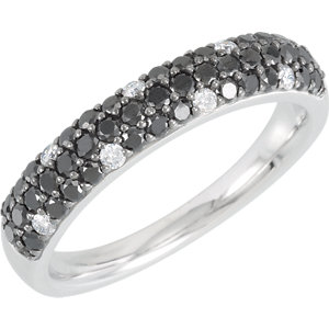 Black & White Diamond Anniversary Band