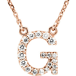 Diamond Initial Necklace
