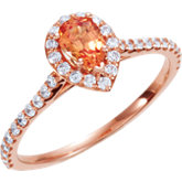 Halo-Style Pear Shaped Engagement Ring or Matching Band