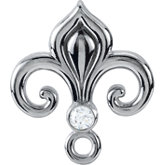 Fleur-de-lis Design Bail Mounting with Ring