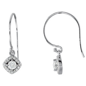 Diamond or Gemstone Halo-Styled Earrings