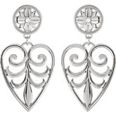 Filigree Design Heart  Earrings