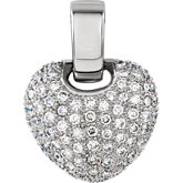 Diamond Pavé Heart Pendant