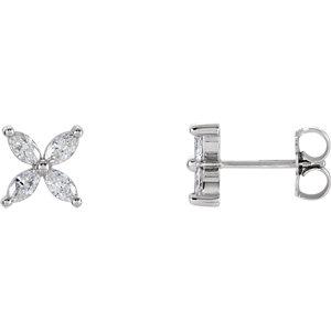 Diamond Cluster Earrings or Mounting