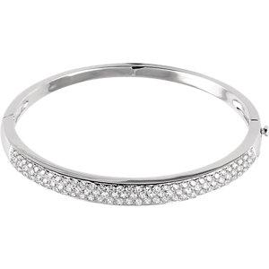 14K White 3 CTW Diamond Pave' Bracelet