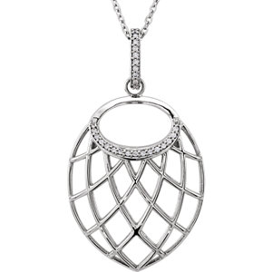 Nest-Design Diamond Necklace or Pendant Mounting