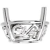 Oval 4-Prong Laurel Scroll Setting®
