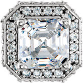 Asscher Halo Peg Head Setting