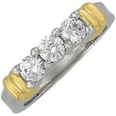 3/4 ct tw Diamond 3-Stone Two-Tone Ring