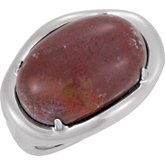 Genuine Red Ocean Jasper Ring