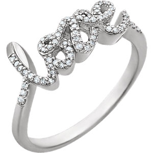 14K White 1/6 CTW Diamond Ring