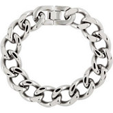 Stainless Steel Curb Bracelet or Chain