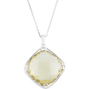 Quartz Pendant & Necklace