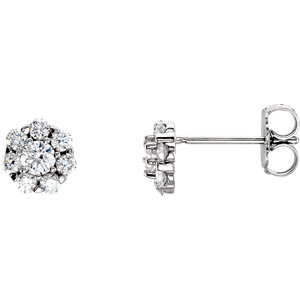 Diamond or Gemstone Cluster Earrings