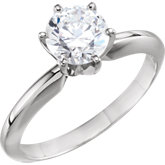 6-Prong Heavy Solitaire Engagement Ring