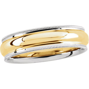 Two-Tone 6mm Milgrain Band